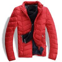 Men's winter jacket collar Slim Korean men's warm down jacket coat factory direct free agent