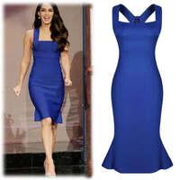 Women's plussize elegant nightclub dress sexy ladies' Slim thin dress fishtail tank dresses  RS-196