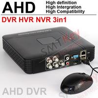 4CH AHD DVR analog High Definition 3in1 by DVR HVR NVR 4CH full D1 H.264 1080P CCTV DVR