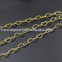 Free ship!!! 50meters jewelry finding heart bronze 3x4mm metal chain jewery chain findings accessories