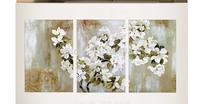 The Apple Blossom!! 40*60cmx3p(16*24inchx3p) 100% Handmade Modern Oil Painting On Canvas Wall Art ,Top Home Decoration TH176