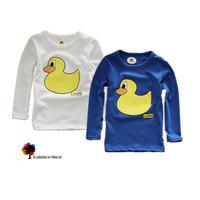 New Children Clothing Boys Autumn and Spring Lovely Cartoon Duck Cotton  T-shirt  Long-sleeved Kids T-shirt