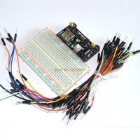 3.3V/5V Breadboard power module+ 400 points Solderless Prototype Bread board kit +65 Flexible jumper wires wholesale