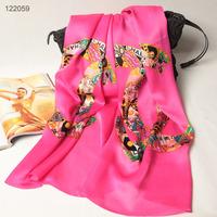 122059 2014 Newest Women's brand Georgette Satin scarf, 100% Silk scarves, rectangle silk scarf, Free Shipping,  Muslim Hijab