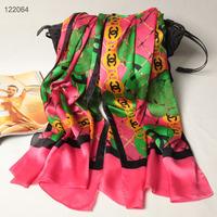 122064 2014 Newest Women's brand Georgette Satin scarf, 100% Silk scarves, rectangle silk scarf, Free Shipping,  Muslim Hijab