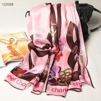 122068 2014 Newest Women's brand Georgette Satin scarf, 100% Silk scarves, rectangle silk scarf, Free Shipping,  Muslim Hijab