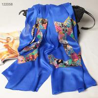 122058 2014 Newest Women's brand Georgette Satin scarf, 100% Silk scarves, rectangle silk scarf, Free Shipping,  Muslim Hijab