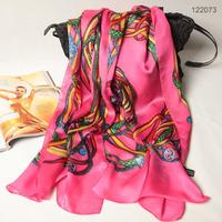 122073 2014 Newest Women's brand Georgette Satin scarf, 100% Silk scarves, rectangle silk scarf, Free Shipping,  Muslim Hijab