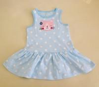 HB0483 Carters baby dress, cute sleeveless summer dress, 100% cotton baby girl dress, honey baby