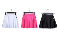 2014 Victor Tennis Wear Skirt Short Women Sports Skort Pattern Girls Tennis Outfits Skirt Pants Sports Woman White/Black/Pink