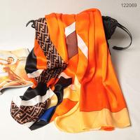 122069 2014 Newest Women's brand Georgette Satin scarf, 100% Silk scarves, rectangle silk scarf, Free Shipping,  Muslim Hijab