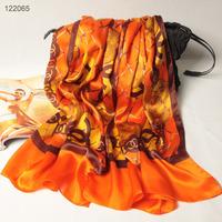 122065 2014 Newest Women's brand Georgette Satin scarf, 100% Silk scarves, rectangle silk scarf, Free Shipping,  Muslim Hijab