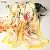 122062 2014 Newest Women's brand Georgette Satin scarf, 100% Silk scarves, rectangle silk scarf, Free Shipping,  Muslim Hijab