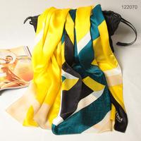 122070 2014 Newest Women's brand Georgette Satin scarf, 100% Silk scarves, rectangle silk scarf, Free Shipping,  Muslim Hijab