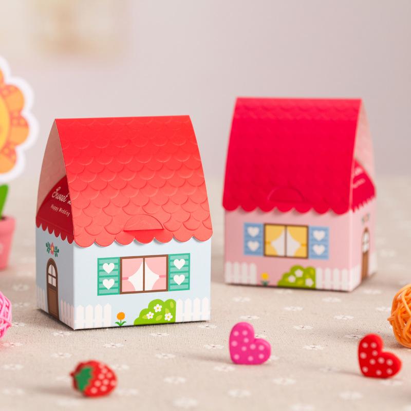 Envio gratuito de casamento telhado caixas dos doces pacote fermento caixas de aniversário de casamento decorações do partido(China (Mainland))