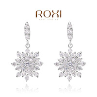 ROXI Gift Classic Genuine Austrian Shinning White Small Snowflake Crystals Fashion Zircon Stud Earrings 102048810