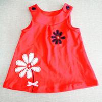 HB0483 high quality cotton 1-5 years girl dress,embroidery suspender kids dress, summer sleeveless children dress, honey baby