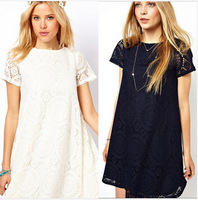 European Designers Style Lace Hollow Out Maternity Dress Summer Short-sleeve Dresses Pregnancy Clothes for Pregnant Women,S-XL