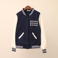 Fall 2014 new sportswear leisure 88th female baseball uniform jacket with long sleeves Cardigan vest Women dress