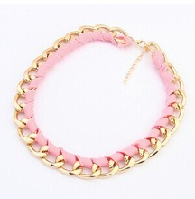 Hot Sale Special Offer Trendy Women Pendant Necklaces Plant Jewelry Collar Necklace Big Fluorescent Color Necklace