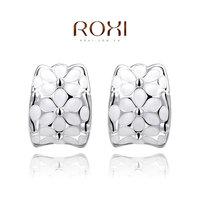 Wholesale ROXI Fashion Accessories Jewelry Austria Crystal CZ Diamond  Dream Snow Flower Love Gift Stud Earrings for Girl