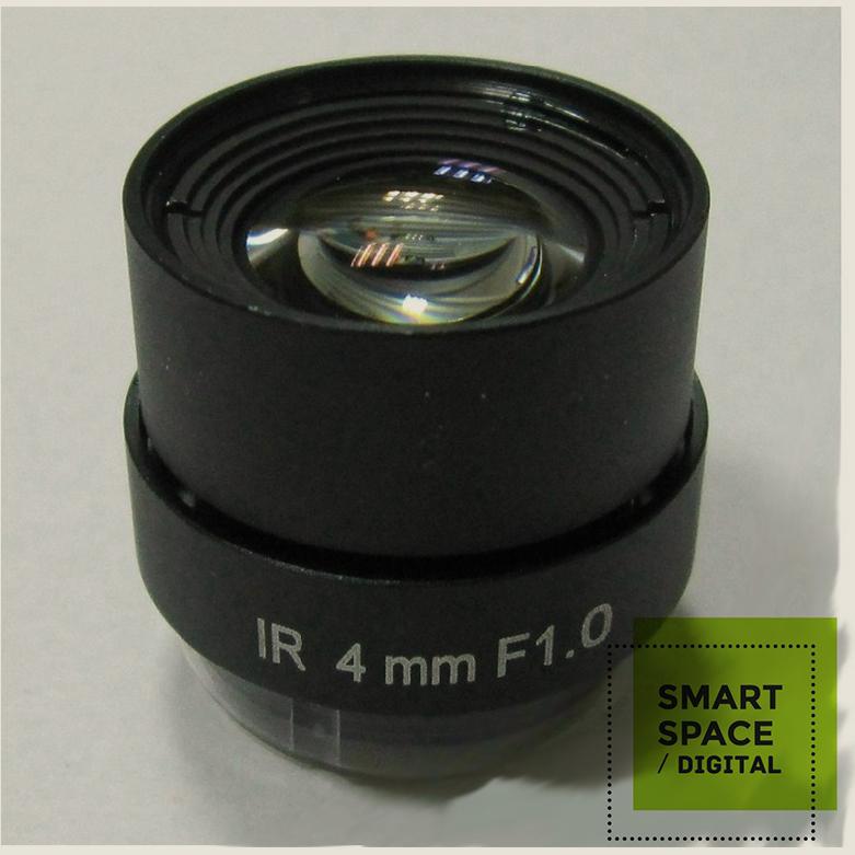4mm Fixed Iris CS Mount IR CCTV Security Camera Lens F1 Aperture(China (Mainland))