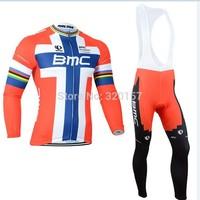 2014 BMC Cycling Jersey winter Warm Fleece Thermal bicicleta Ropa ciclismo bicycle bike maillot long clothing (bib) pant sets