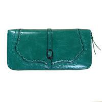 Free shipping newest women long section of lace zipper wallet purse cute leather female wallet women