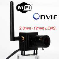 Mini Wifi IP Wireless Surveillance CCTV Camera 2.8-12mm manual varifocal zoom lens ONVIF P2P Plug and Play For Android iPhone PC