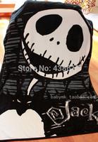 Genuine The Nightmare Before Christmas JACK Black Blankets Cartoon Large Coral Fleece Fabric Plush Blanket Carpet For Kids