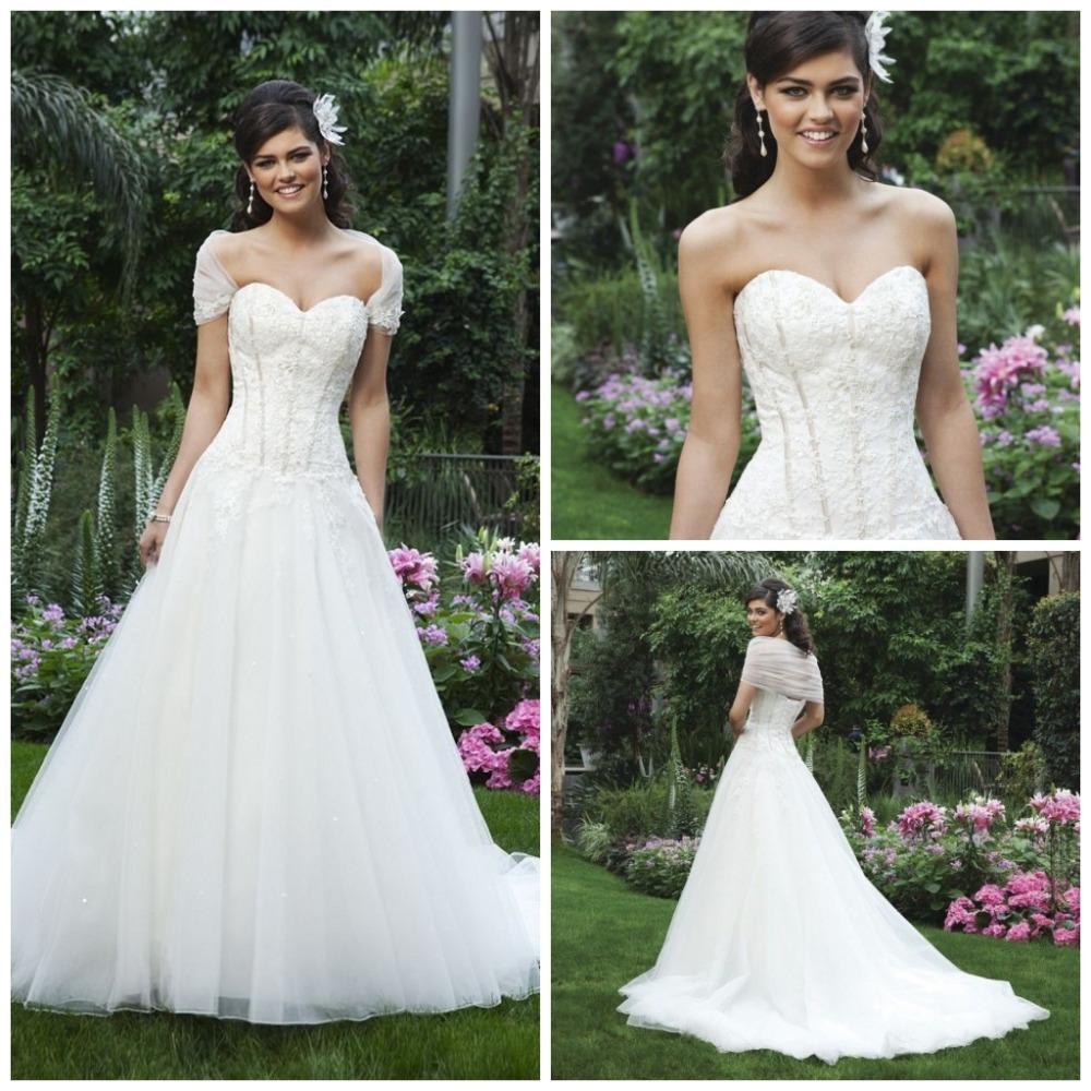 Turmec Detachable Cap Sleeves For Wedding Dress