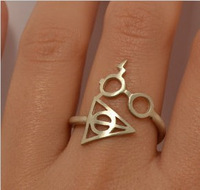 2014 New Trendy Harry potter eyes Death artifact ring for women