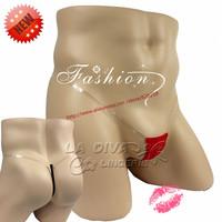 Man Men's Cotton transparent Mini MIcro G-Strings Male Bikini Swimwear Thongs PantiesT-Back Brief Underwear Lingerie Gay Sex Toy
