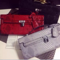 New arrival fashion design famous brand  handbag snakeskin pattern platinum golden head shoulder chain bag clutch evening bag