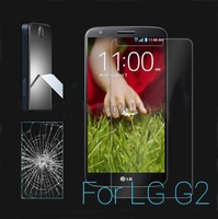 Tempered Glass Screen Protector For LG G2 , 0.3mm thicnkness Round Edge,10 Pcs/Lot, Retail Package