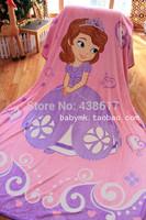 Free Shipping Sofia The Frist Princess Sofia Blankets Kids Cartoon Large Coral Fleece Fabric Plush Blanket