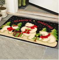 45*75cm mat anti-slip snowman cartoon mat bedroom living room door rugs children's room cartoon absorbent thickened rugs