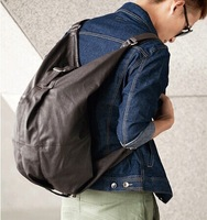 070956  Creative personality han edition of PU leather fashion dumplings men's backpack  free  shipping