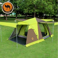 Camel ! Four with snow skirt outdoor tent camping tent 3-4 person multiplayer automatic double tent camping