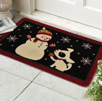 Happy Holidays 45*75cm mat anti-slip mat bedroom living room door rugs children's room cartoon absorbent thickened rugs
