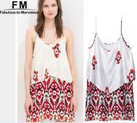 New Print Spaghetti Strap Summer Dress 2015 Casual Dress Viscose Sexy Dresses Vestido Femininos Women De Praia Vestidos AW14D043