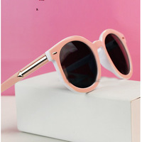 Fashion pink steampunk arrow rivets SunGlasses Women Elegant brand D Sunglasses Women oculos de sol masculino 2014