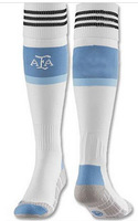 2014 World Cup Thailand Quality Argentina Home White Thickened Cotton Free Size Adult Sock Sports Player Version Argentina Sock