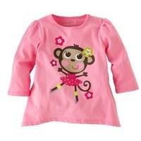 Wholesale girl pink spring autumn basic cotton t shirt girl long sleeve t shirt 6pcs/Lot Free shipping