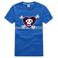 100% Cotton Men's Tees Rock skeleton pattern T-Shirts S/M/L/XL/XXL/XXXL Fashion Large Size Shirts short sleeve