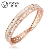 Jewelry Wholesale 10pcs/lot Z030  Nickle Free    Fashion Jewelry 18K Real Gold Plated Bracelets Bangles