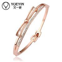 Jewelry Wholesale 10pcs/lot Z028  Nickle Free    Fashion Jewelry 18K Real Gold Plated Bracelets Bangles