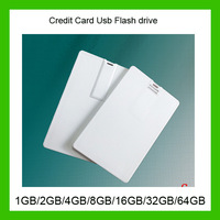2014 new Waterproof Super Slim Credit Card USB Flash Drives 32GB 16GB 8GB Pendrives Thumbdrives