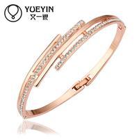 Jewelry Wholesale 10pcs/lot Z032  Nickle Free    Fashion Jewelry 18K Real Gold Plated Bracelets Bangles