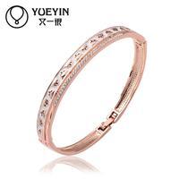 Jewelry Wholesale 10pcs/lot Z058  Nickle Free    Fashion Jewelry 18K Real Gold PlatedBracelets For Women Bangles